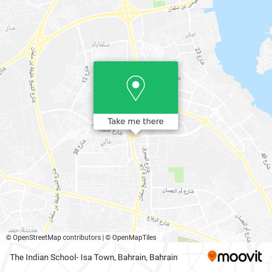 The Indian School- Isa Town, Bahrain map