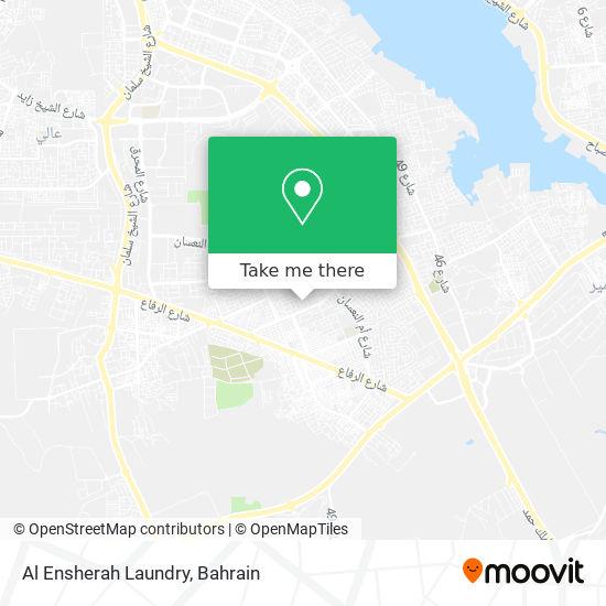 Al Ensherah Laundry map