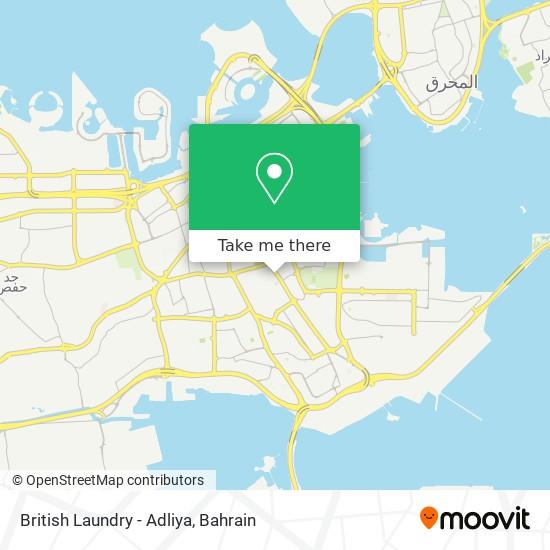 British Laundry - Adliya map