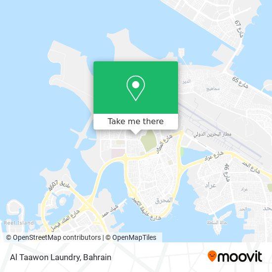 Al Taawon Laundry map
