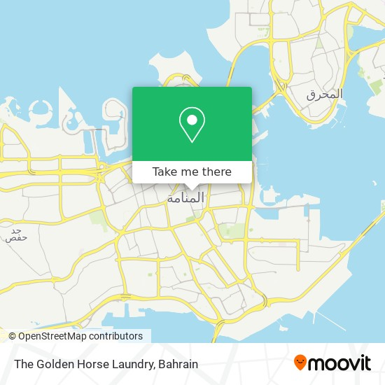 The Golden Horse Laundry map