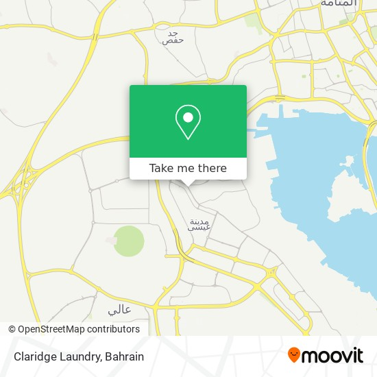 Claridge Laundry map