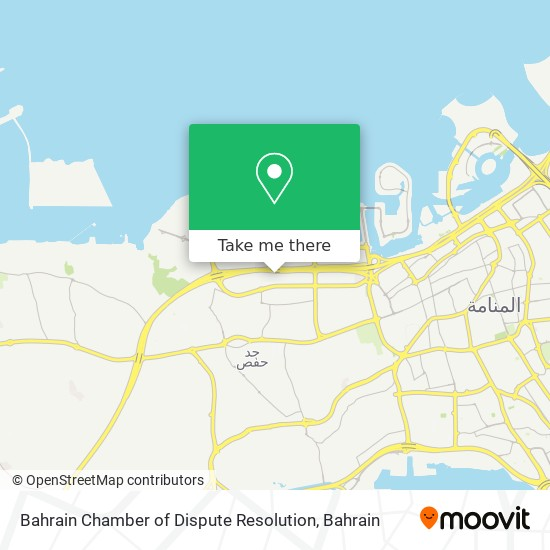 Bahrain Chamber of Dispute Resolution map
