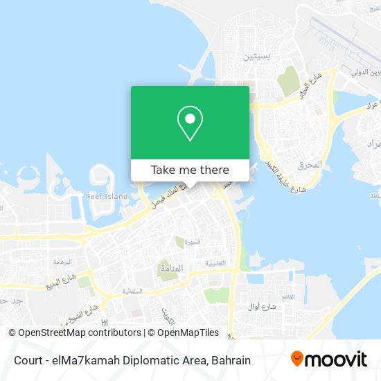 Court - elMa7kamah Diplomatic Area map