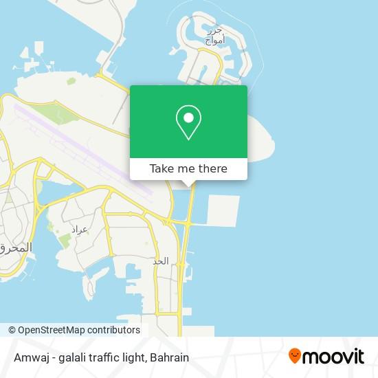 Amwaj - galali traffic light map