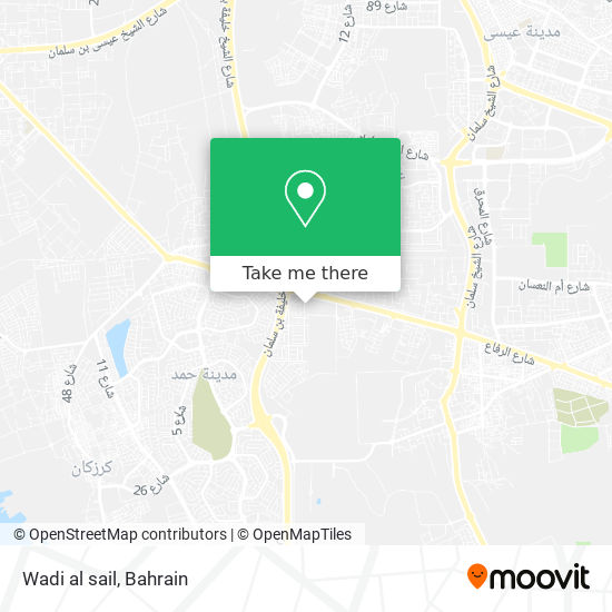 Wadi al sail map