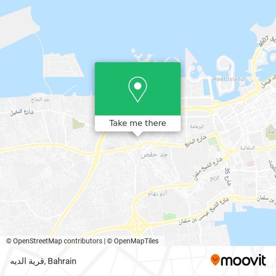 قرية الديه map