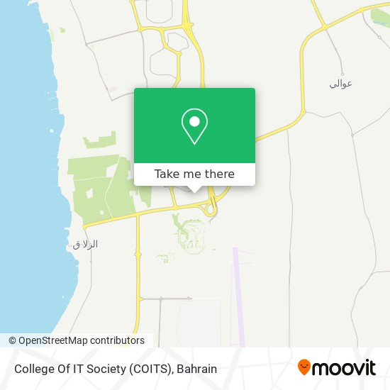 College Of IT Society (COITS) map