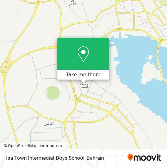 Isa Town Intermediat Boys School map