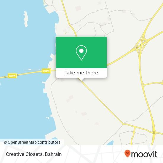 Creative Closets map