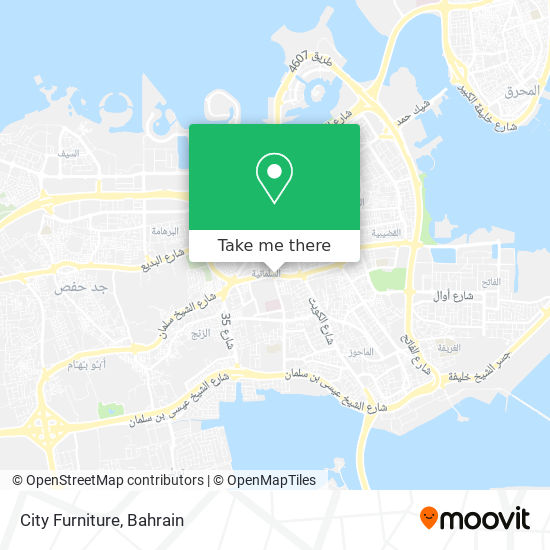 City Furniture map