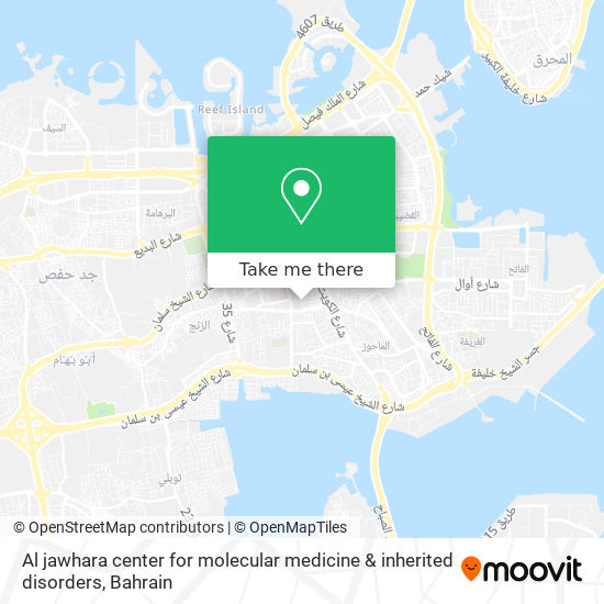 Al jawhara center for molecular medicine & inherited disorders map