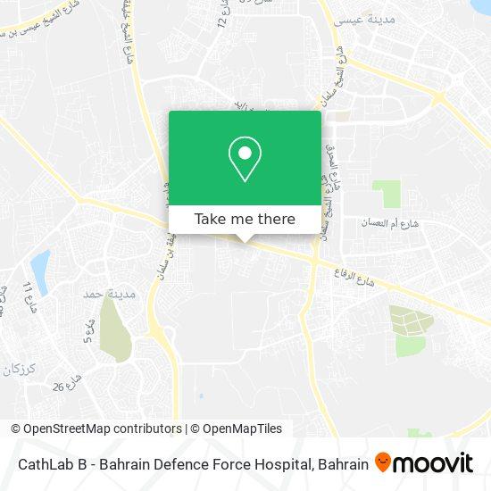 CathLab B - Bahrain Defence Force Hospital map