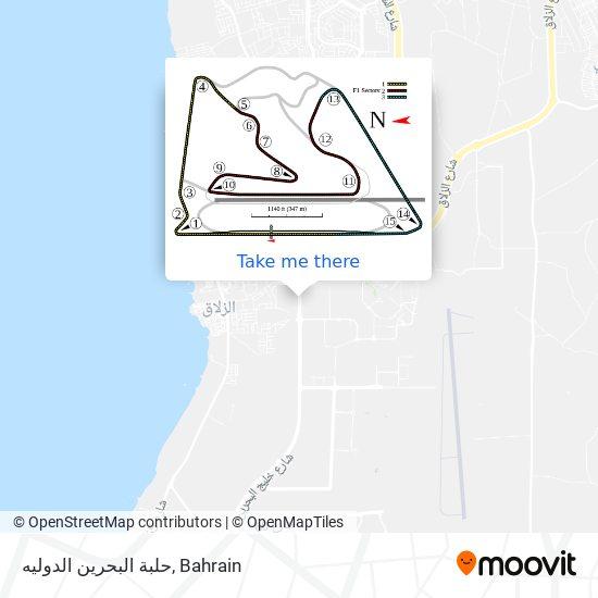 حلبة البحرين الدوليه map