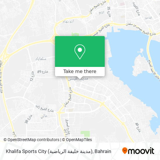 Khalifa Sports City (مدينة خليفة الرياضية) map