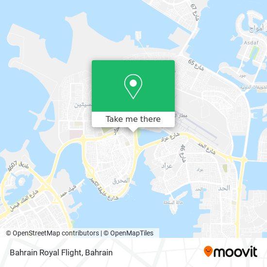 Bahrain Royal Flight map