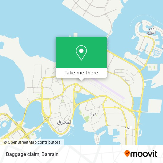 Baggage claim map