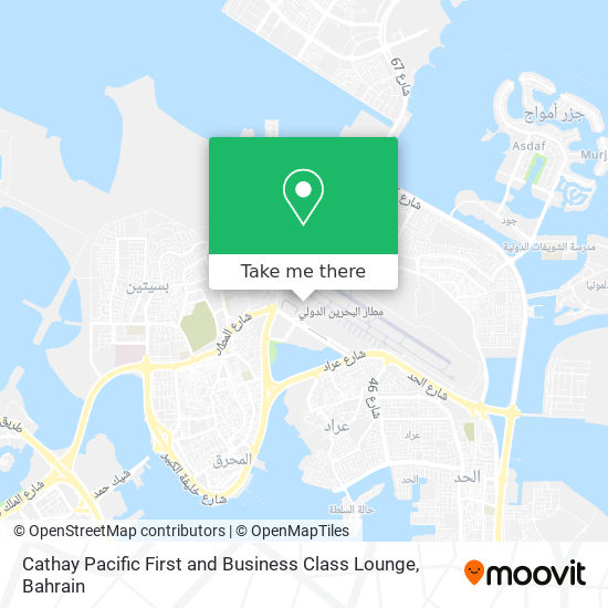 Cathay Pacific First and Business Class Lounge map