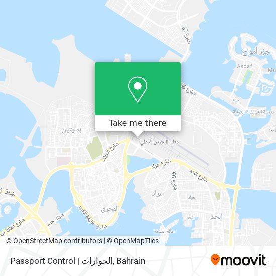 Passport Control | الجوازات map