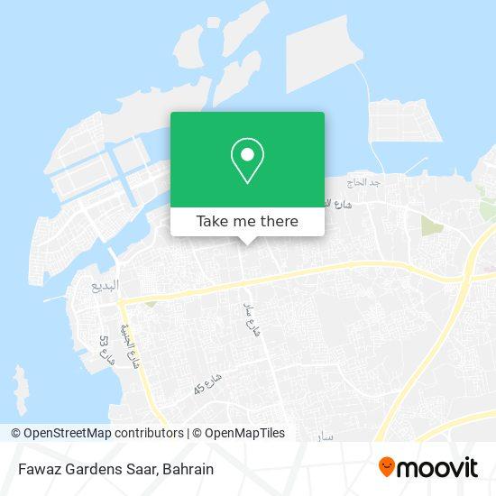 Fawaz Gardens Saar map