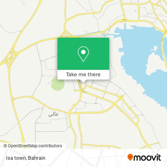 Isa town map