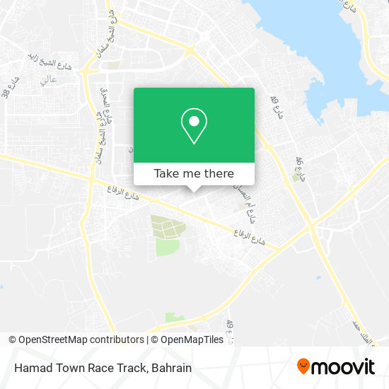 Hamad Town Race Track map