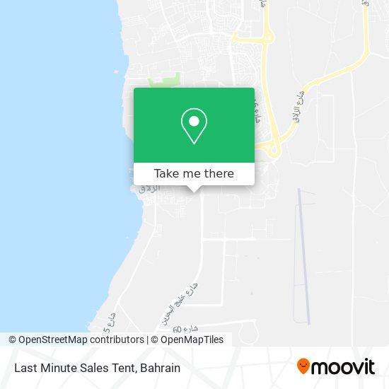 Last Minute Sales Tent map