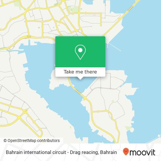 Bahrain international circuit - Drag reacing map