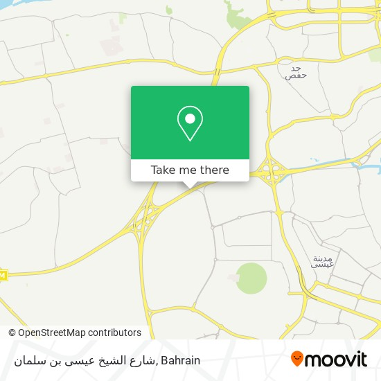 شارع الشيخ عيسى بن سلمان map