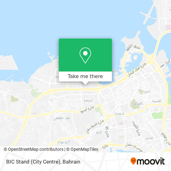 BIC Stand (City Centre) map