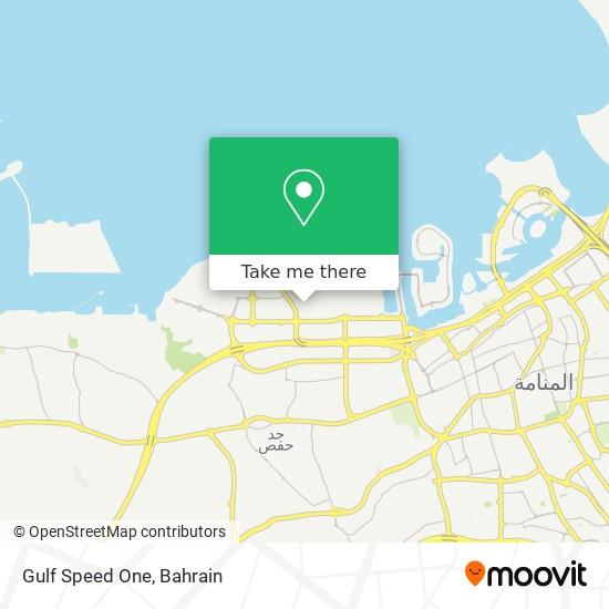 Gulf Speed One map
