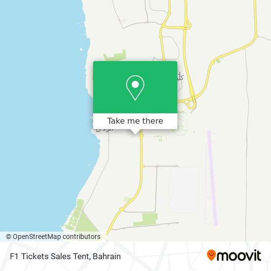 F1 Tickets Sales Tent map