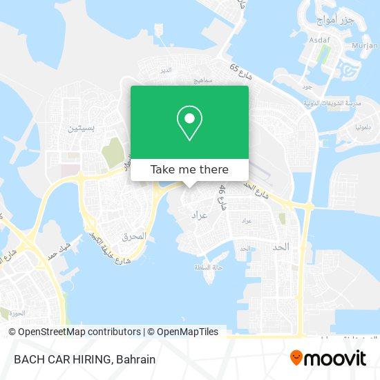BACH CAR HIRING map