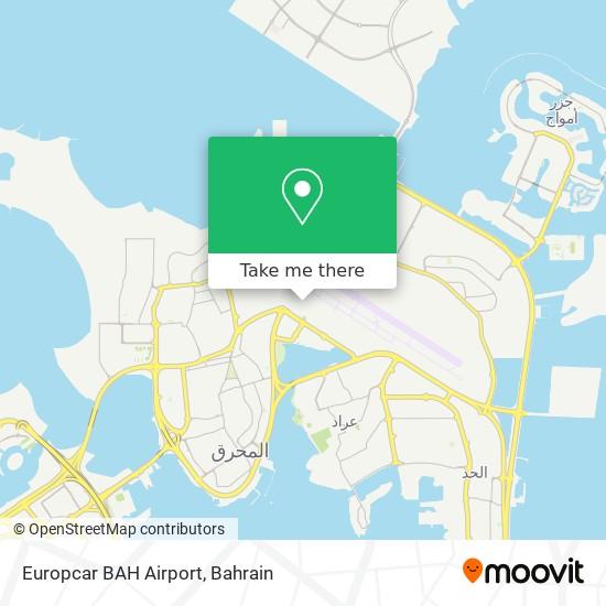 Europcar BAH Airport map