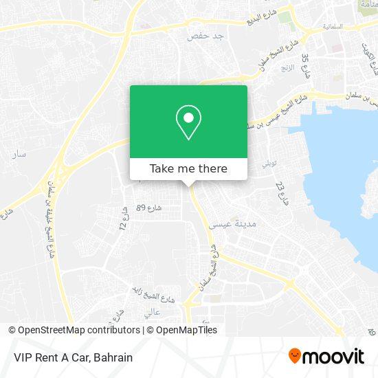 VIP Rent A Car map