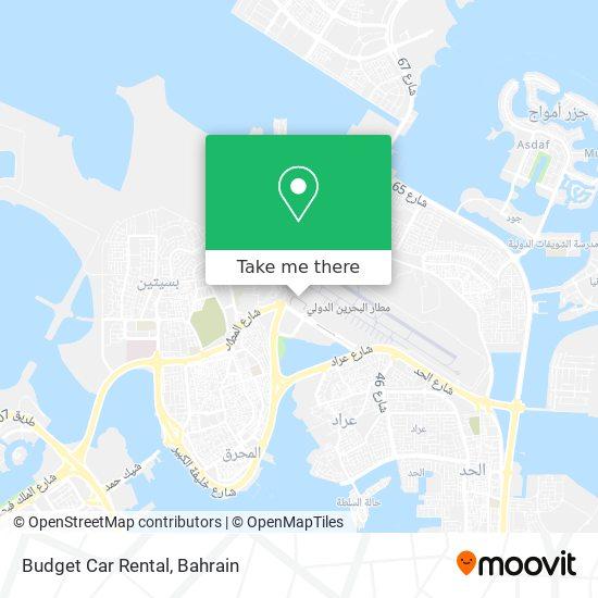 Budget Car Rental map