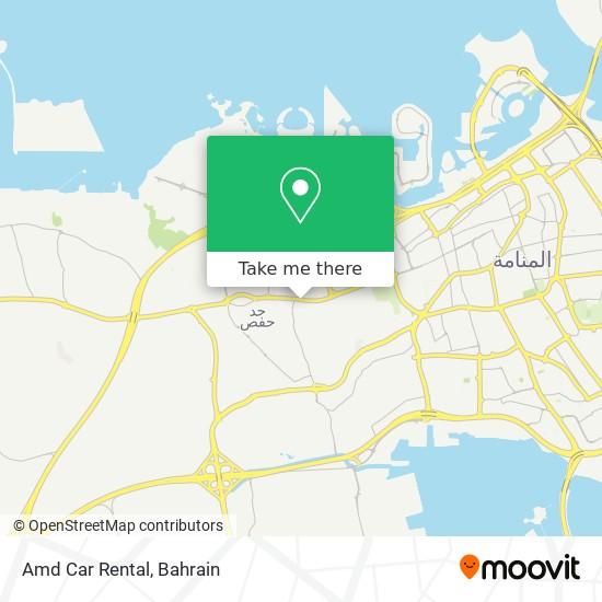 Amd Car Rental map