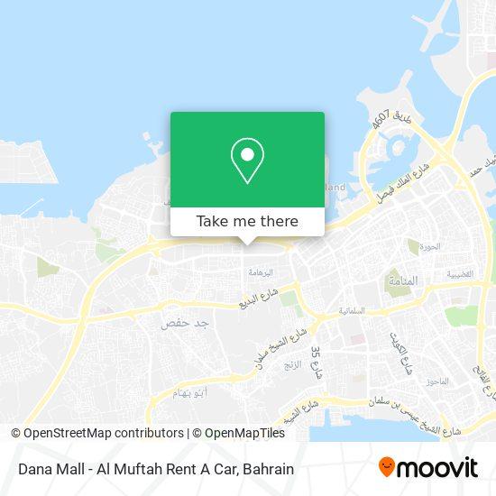 Dana Mall - Al Muftah Rent A Car map