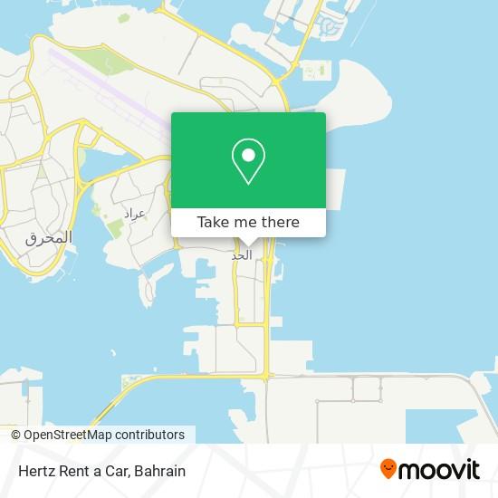 Hertz Rent a Car map