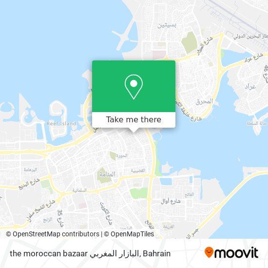 the moroccan bazaar البازار المغربي map