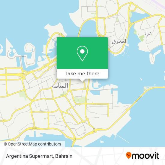 Argentina Supermart map