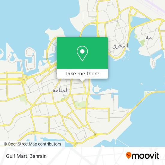 Gulf Mart map