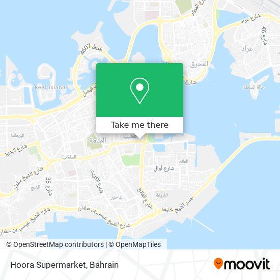Hoora Supermarket map