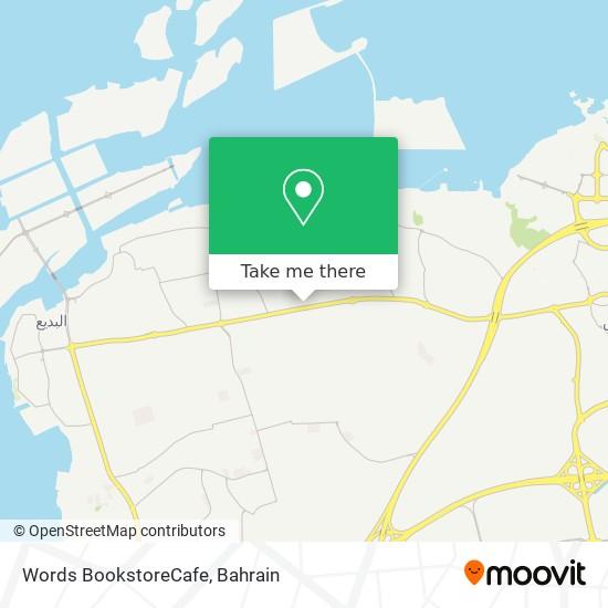 Words BookstoreCafe map