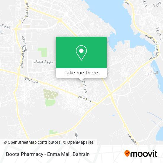Boots Pharmacy - Enma Mall map