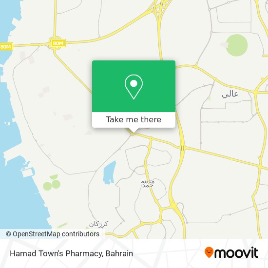 Hamad Town's Pharmacy map