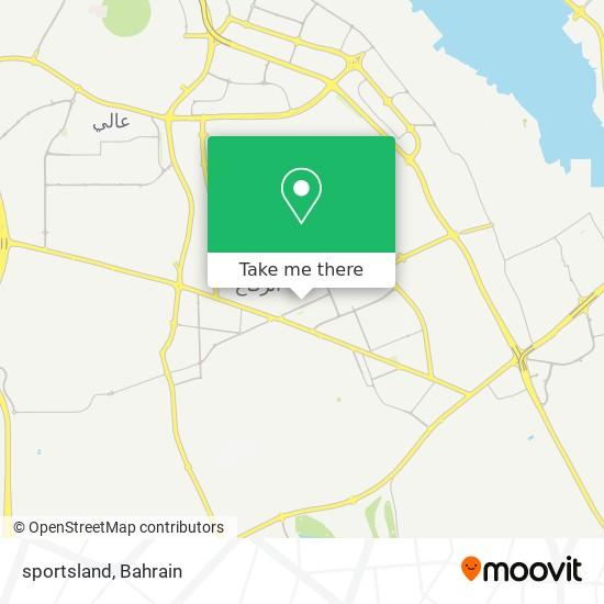 sportsland map