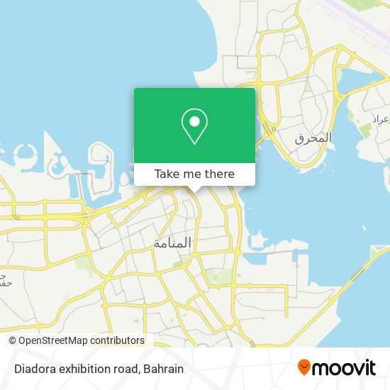 Diadora exhibition road map