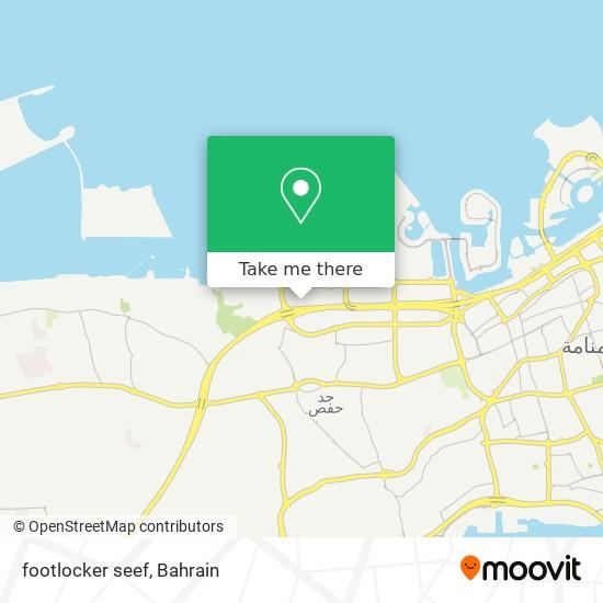 footlocker seef map