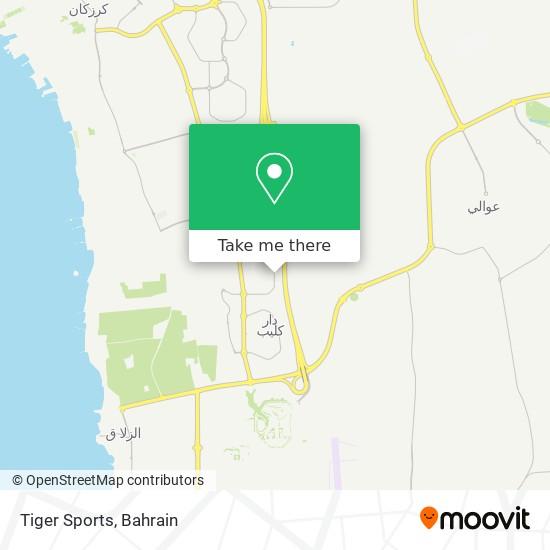 Tiger Sports map